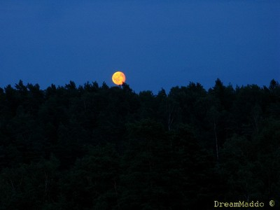 Månen kommer fram.