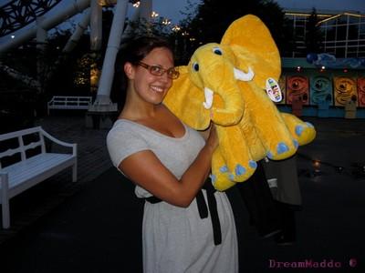 Jag vann en Elefant-nalle :)