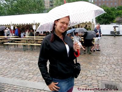 I regnet på Packhuskajen